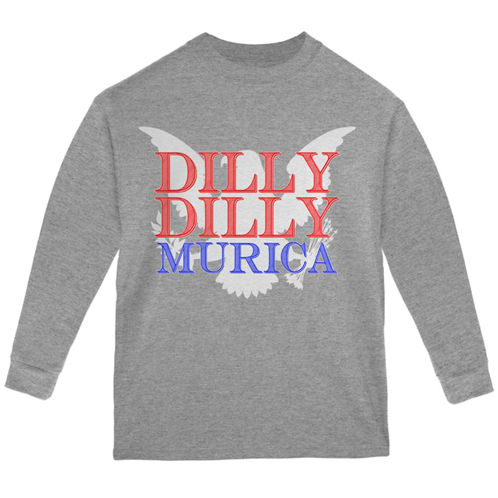 d0c85e477 4th of July Dilly Dilly MURICA Youth Long Sleeve T Shirt – OldGlory.com
