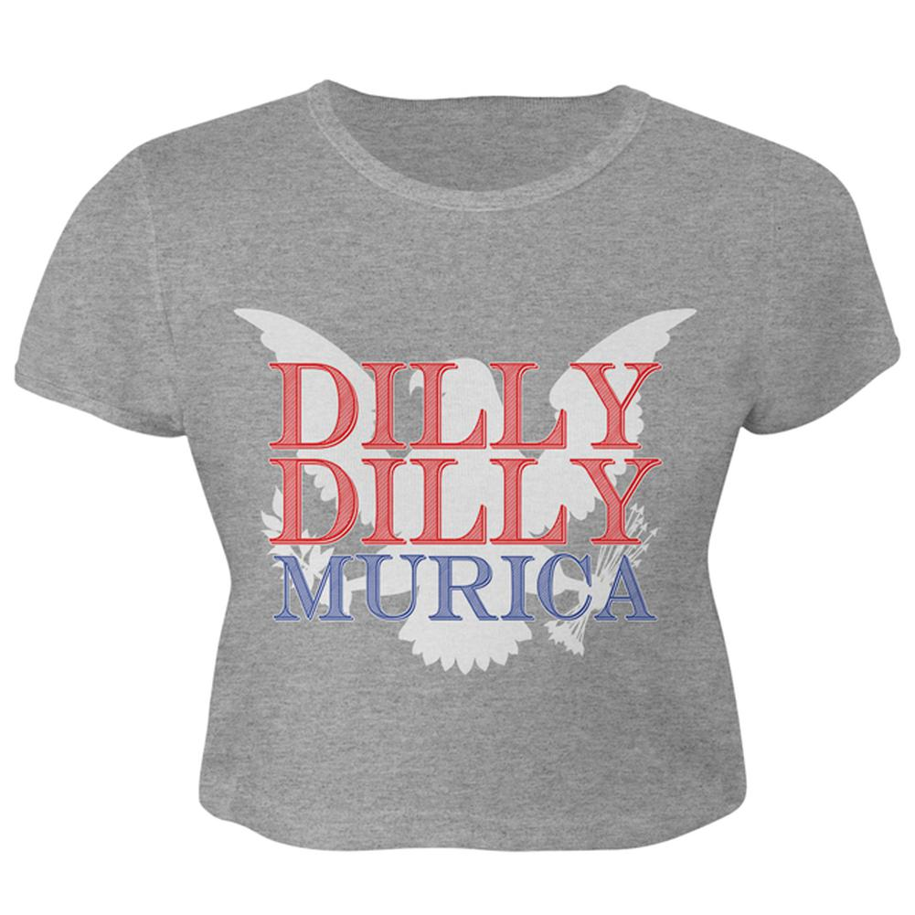 b65dbea93 4th of July Dilly Dilly MURICA Juniors Crop Top T-Shirt – OldGlory.com