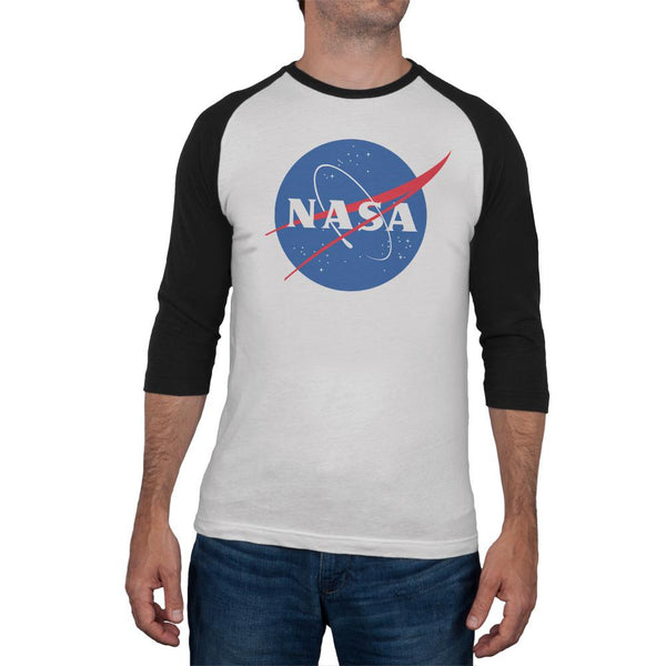 NASA Logo Mens Soft Raglan T Shirt