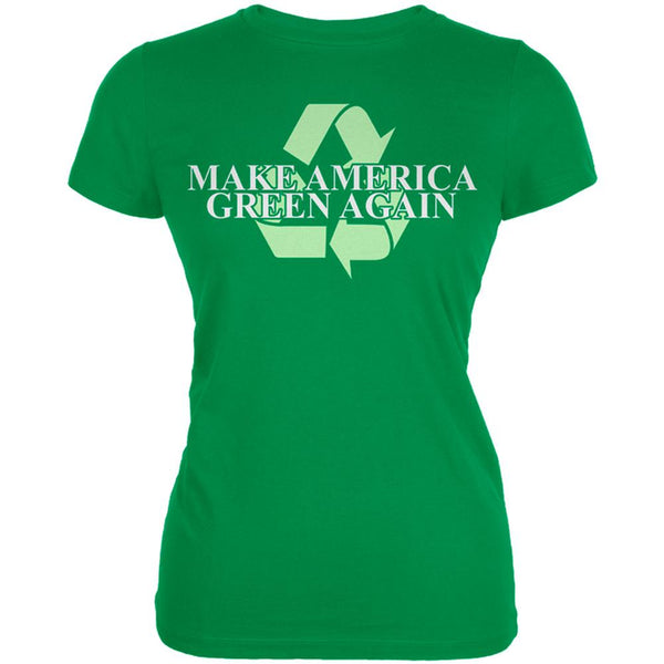 Make America Green Again Recycle Juniors Soft T Shirt