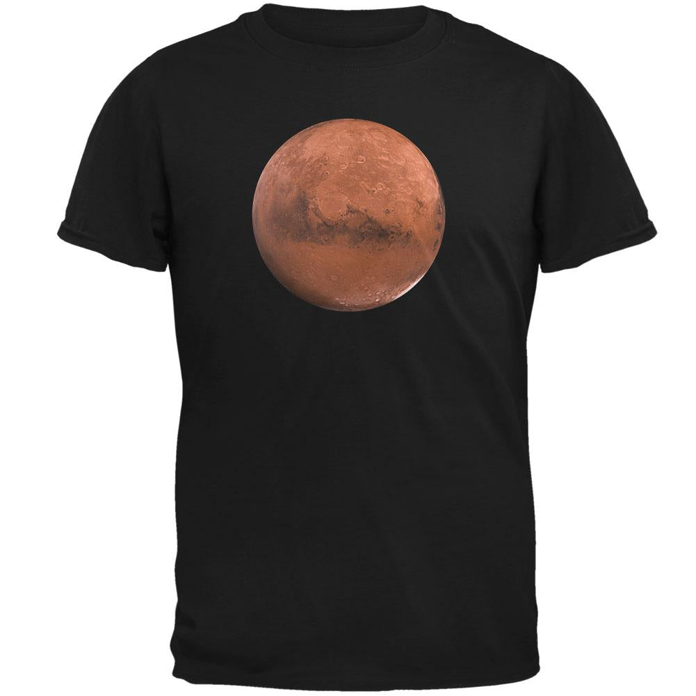 Planet Mars Mens Soft T Shirt