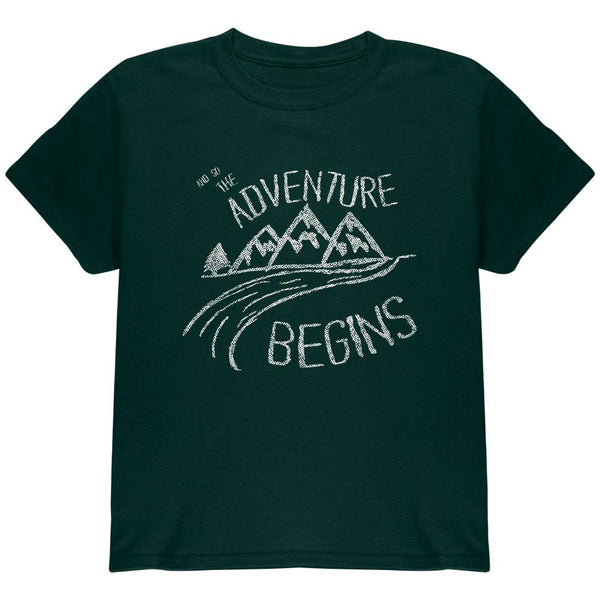 Camping So The Adventure Begins Youth T Shirt