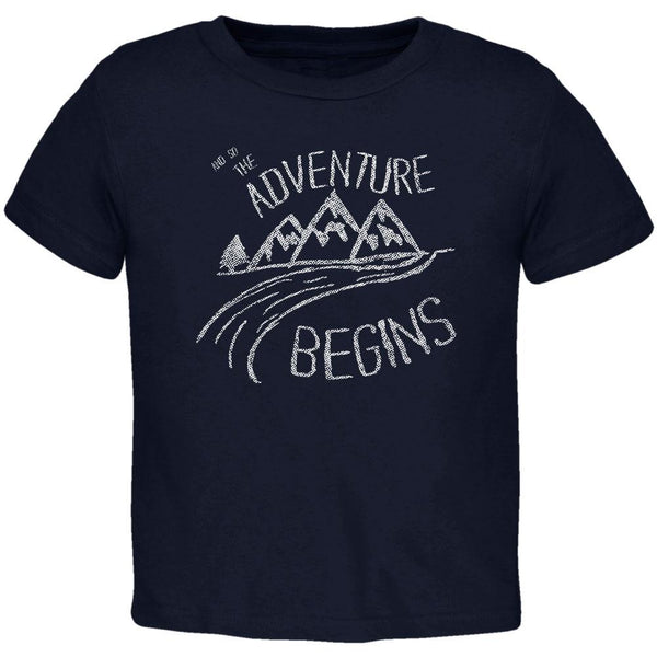 Camping So The Adventure Begins Toddler T Shirt