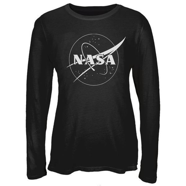 NASA Outline Logo Juniors Long Sleeve T-Shirt