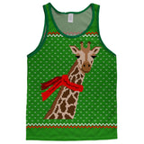 Ugly Christmas Sweater Big Giraffe Scarf Adult Mesh Jersey