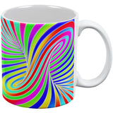 Rainbow Trippy Swirl All Over Coffee Mug