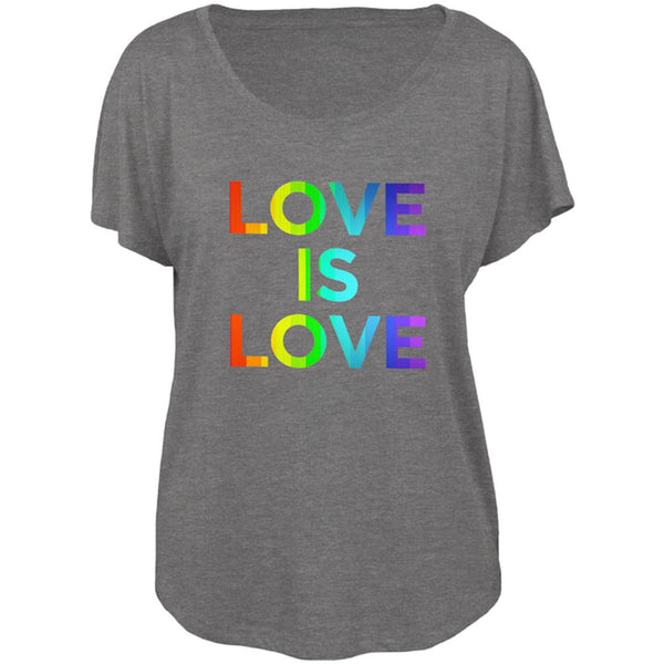 LGBT Gay Pride Love Is Love Juniors Dolman T Shirt
