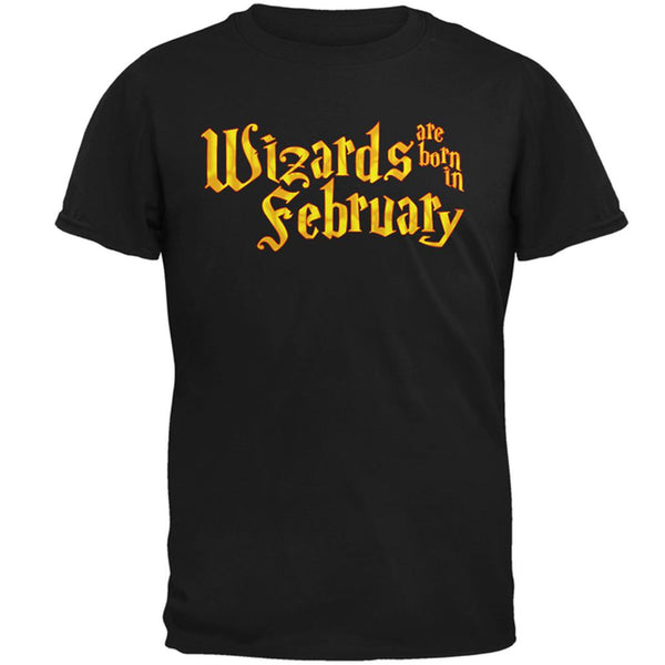 Wizards are born in February Mens T Shirt