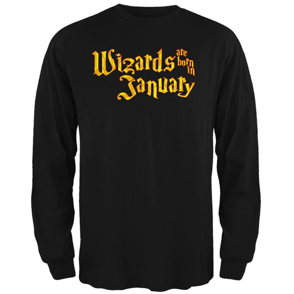 Wizards are born in January Mens Long Sleeve T Shirt