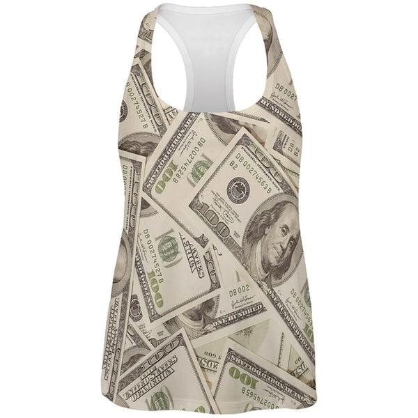 Cash Money All Over Womens Work Out Tank Top