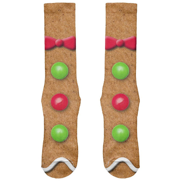 Gingerbread Man Costume All Over Soft Socks