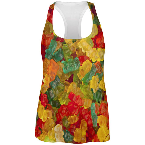 Halloween Candy Gummy Bears All Over Womens Work Out Tank Top