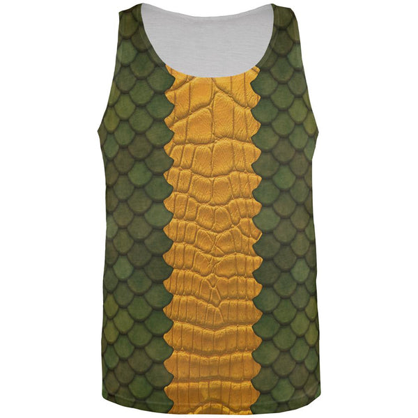 Halloween Green Dragon Costume All Over Mens Tank Top