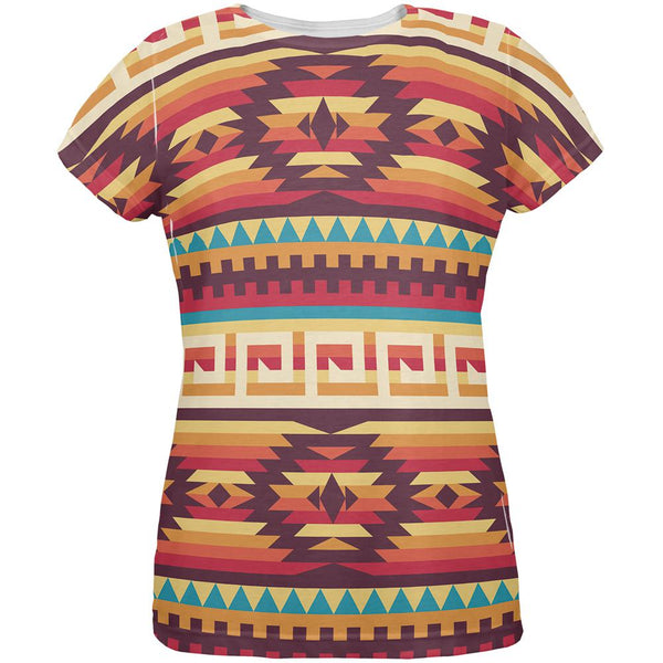 Native American Pattern All Over Womens T Shirt