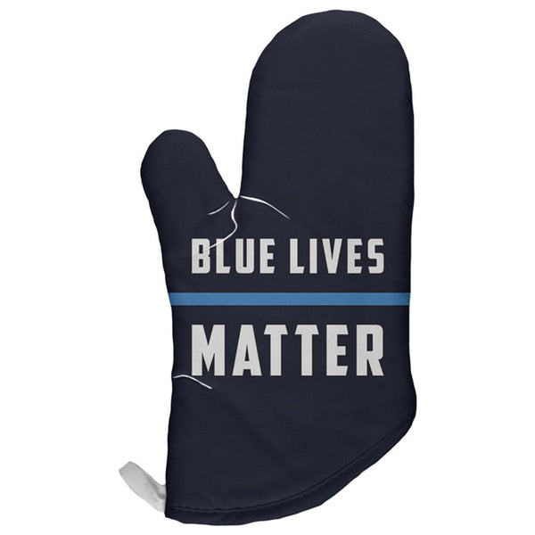 Police Blue Lives Matter Thin Blue Line All Over Oven Mitt