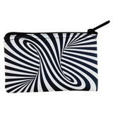 Trippy Black And White Swirl Coin Purse