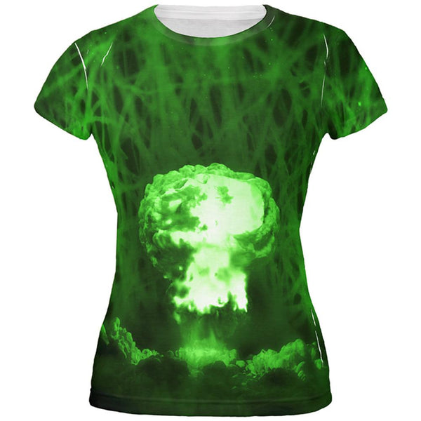 Gamma Radiation Atomic Explosion All Over Juniors T Shirt
