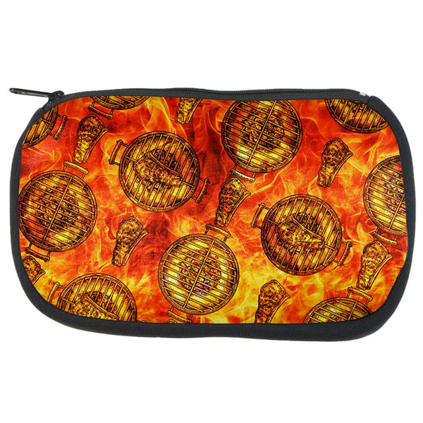 Flaming Hot Charcoal Grilled Steak Pattern Travel Bag