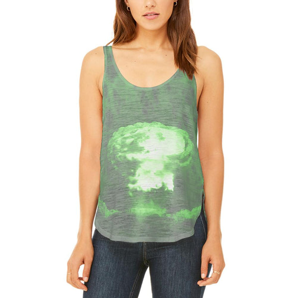 Gamma Radiation Atomic Explosion Juniors Flowy Side Slit Tank Top