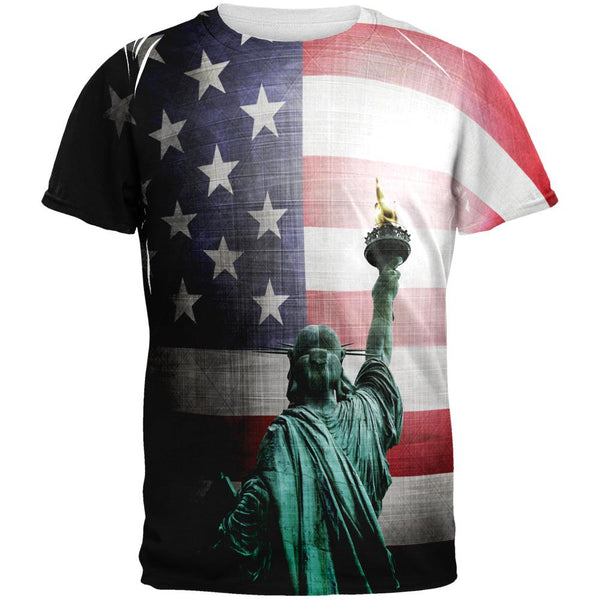 4th of July Let Lady Liberty Light the Way All Over Mens T Shirt