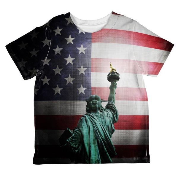 4th of July Let Lady Liberty Light the Way All Over Toddler T Shirt