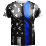 Halloween Thin Blue Line Superhero Costume All Over Mens T Shirt