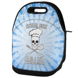 Natural Born Griller Blue Lunch Tote Bag