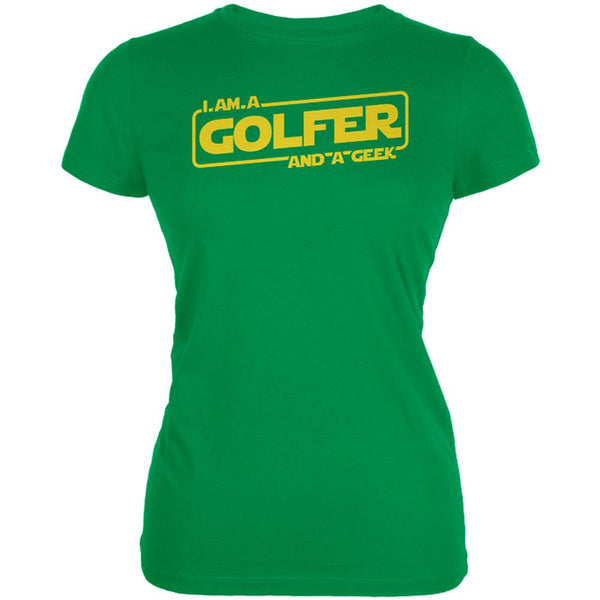 A Golfer and a Geek Juniors Soft T Shirt