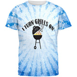 I Turn Grills On Blue All Over Mens T Shirt