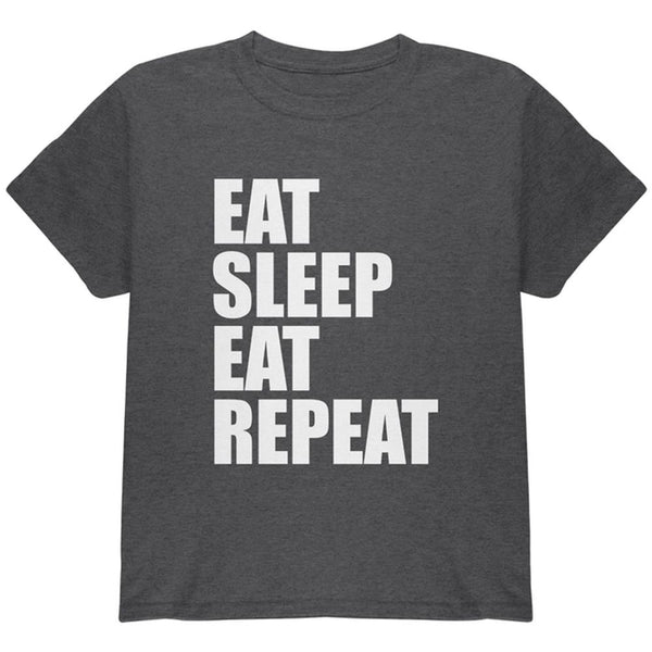 Eat Sleep Eat Repeat Funny Youth T Shirt