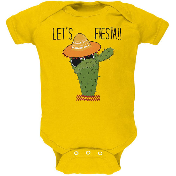 Cinco De Mayo Dabbing Cactus Lets Fiesta Party Soft Baby One Piece