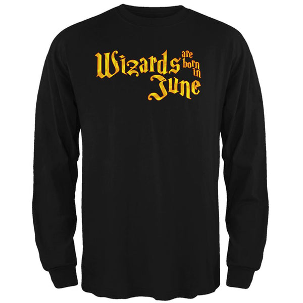 Wizards are born in June Mens Long Sleeve T Shirt
