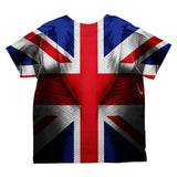 Halloween Union Jack British Flag Superhero Costume All Over Toddler T Shirt