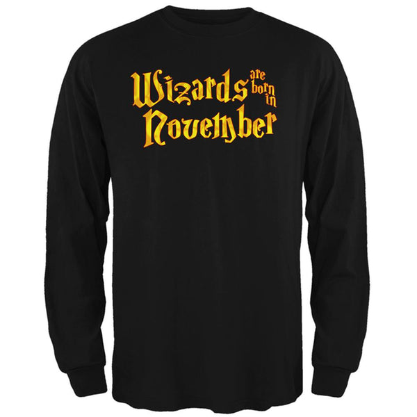 Wizards are born in November Mens Long Sleeve T Shirt