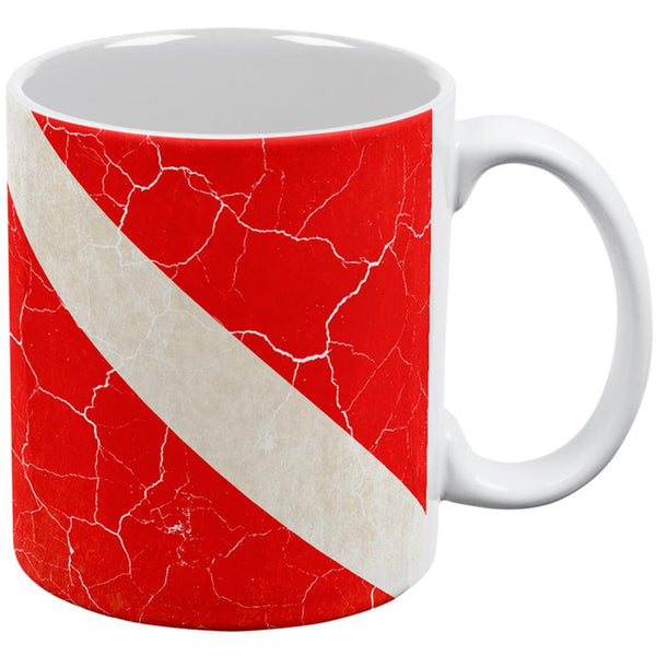 Diver Down Distressed Weathered Flag All Over Coffee Mug