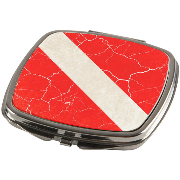 Diver Down Distressed Weathered Flag Compact
