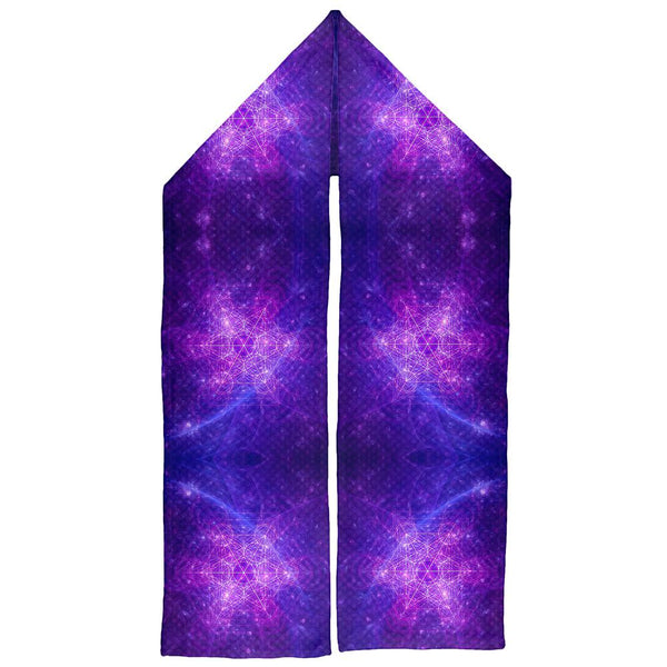 Sacred Geometry Metatron Cube Map of Creation Warm Fleece Scarf