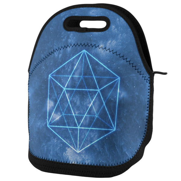 Sacred Geometry Icosahedron Crystal Wind Lunch Tote Bag