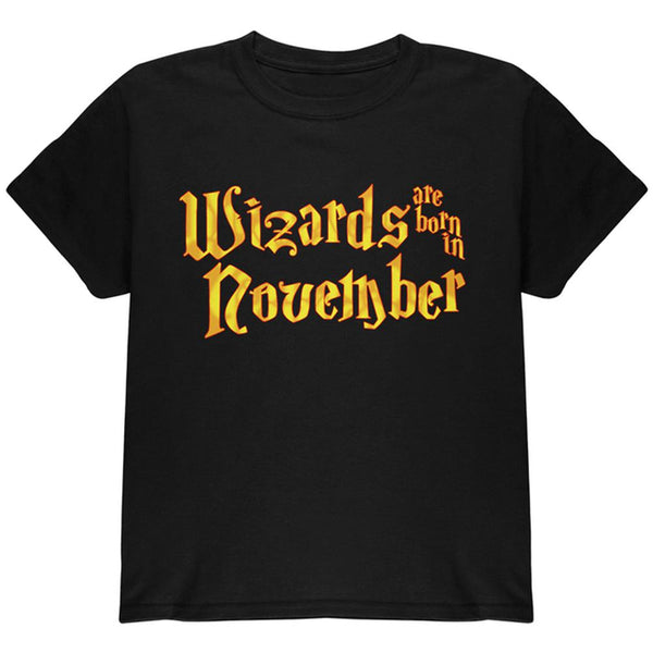 Wizards are born in November Youth T Shirt