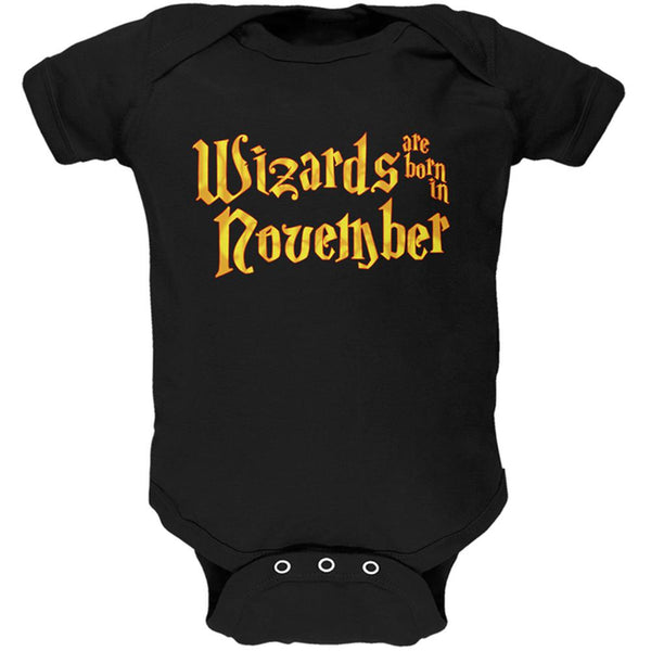 Wizards are born in November Soft Baby One Piece