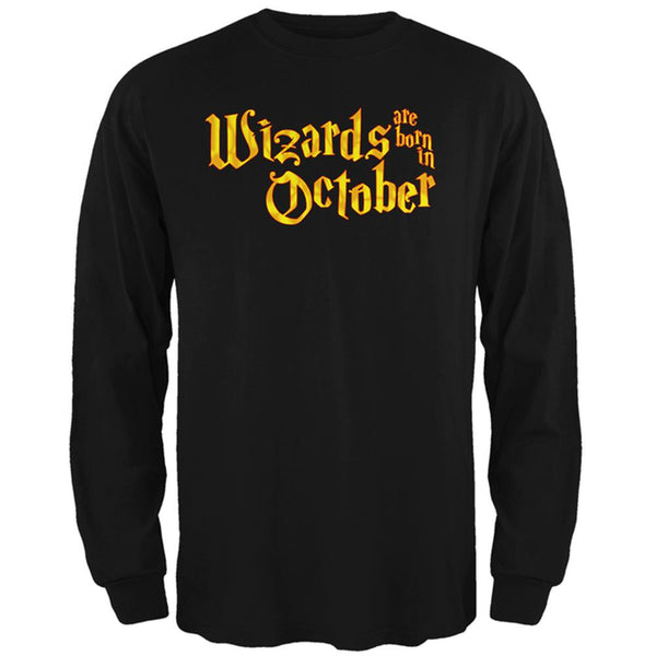 Wizards are born in October Mens Long Sleeve T Shirt