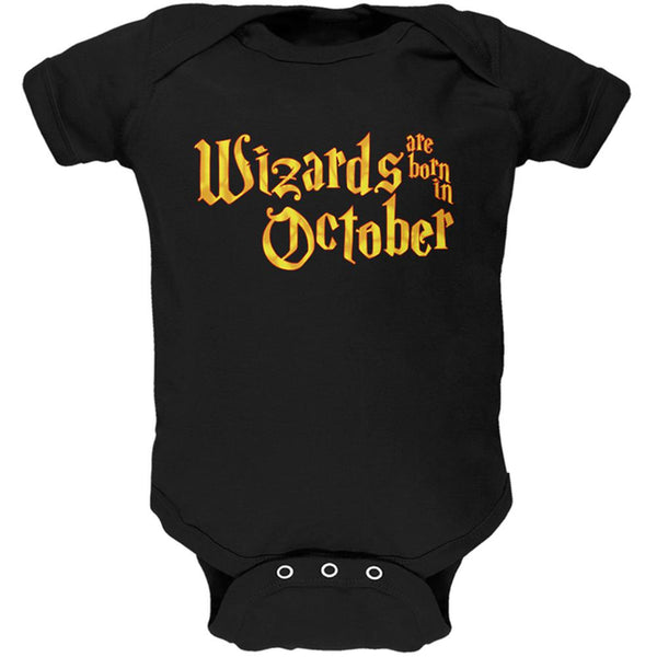 Wizards are born in October Soft Baby One Piece