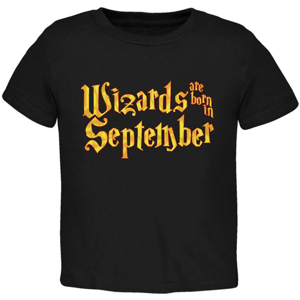 Wizards are born in September Toddler T Shirt