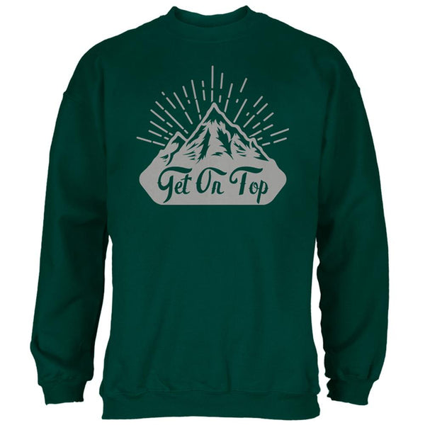 Get On Top Mountain Hiking Mens Sweatshirt