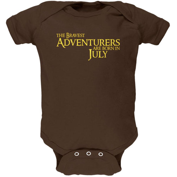Brave Adventurers are Born in July Soft Baby One Piece