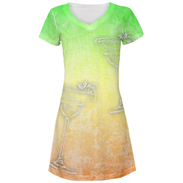Cinco de Mayo Summer Margaritas All Over Juniors Beach Cover-Up Dress