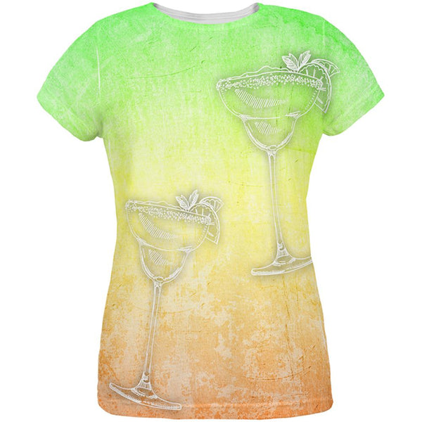 Cinco de Mayo Summer Margaritas All Over Womens T Shirt