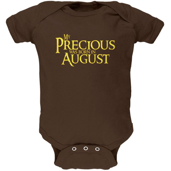 My Precious was Born in August Soft Baby One Piece
