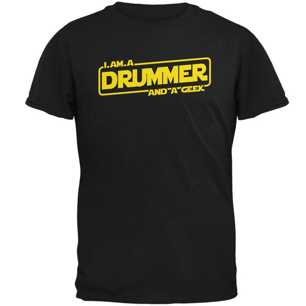 A Drummer and a Geek Mens T Shirt