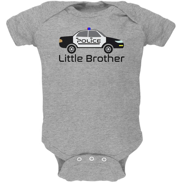 Little Brother Police Car Soft Baby One Piece
